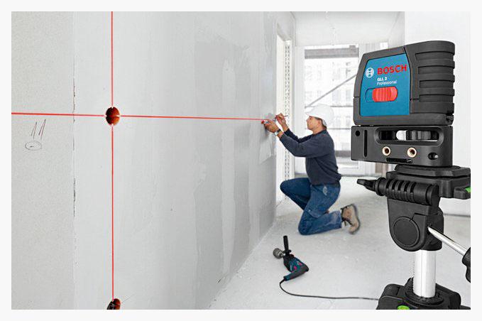 خط تراز لیزری در برق ساختمان